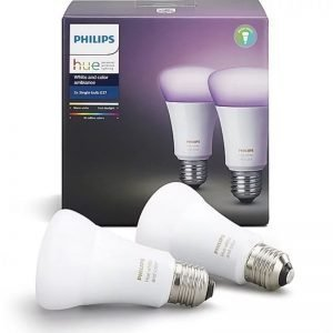 philips hue e27 white and color ambiance twin pack