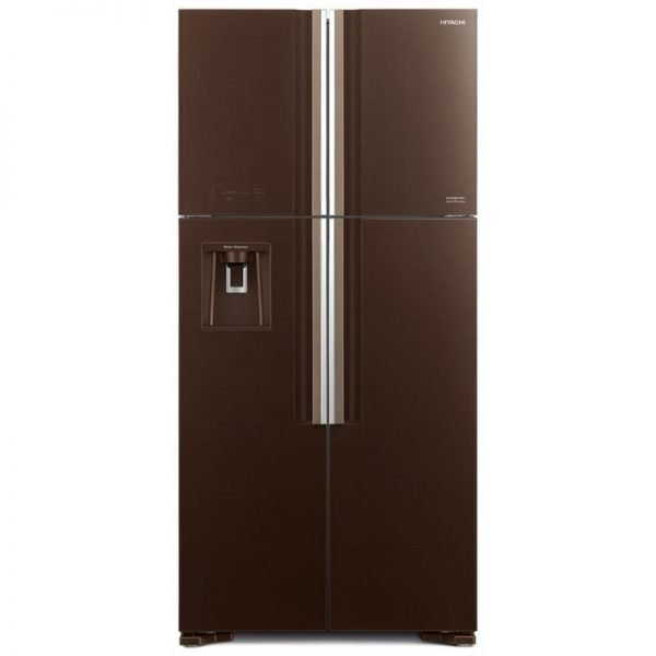 hitachi french door refrigerator brown color