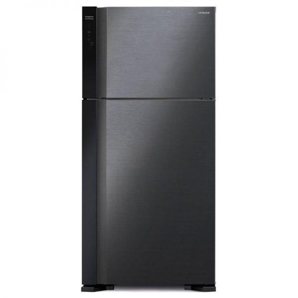hitachi rv760puk7k black no frost refrigerator