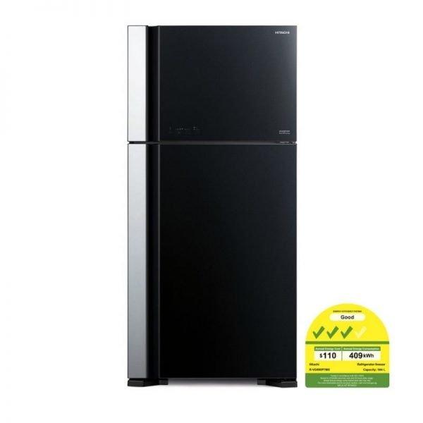 hitachi rvg560 glass door refrigerator